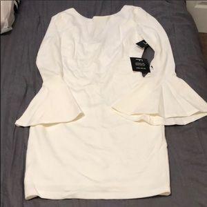 White bell sleeve LULUs dress